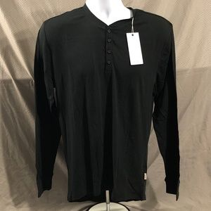 Onia Brand Black Long Sleeve George Henley